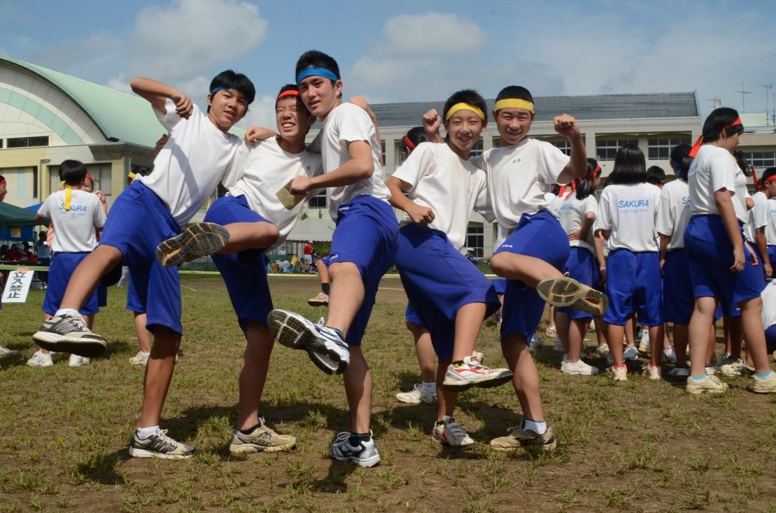 中学校生活最後の体育祭です。