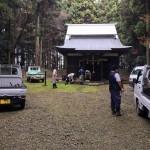 鹿島神社の掃除
