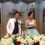 萩原 勇県議会議員の結婚披露宴。