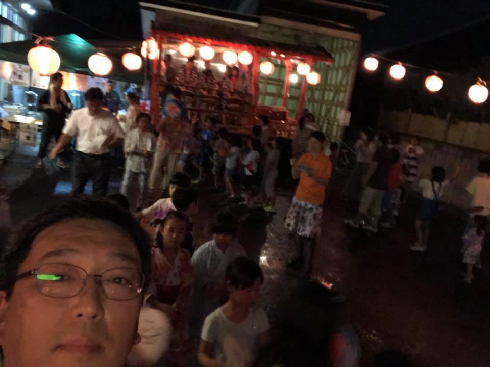 盆踊り大会 中根地区