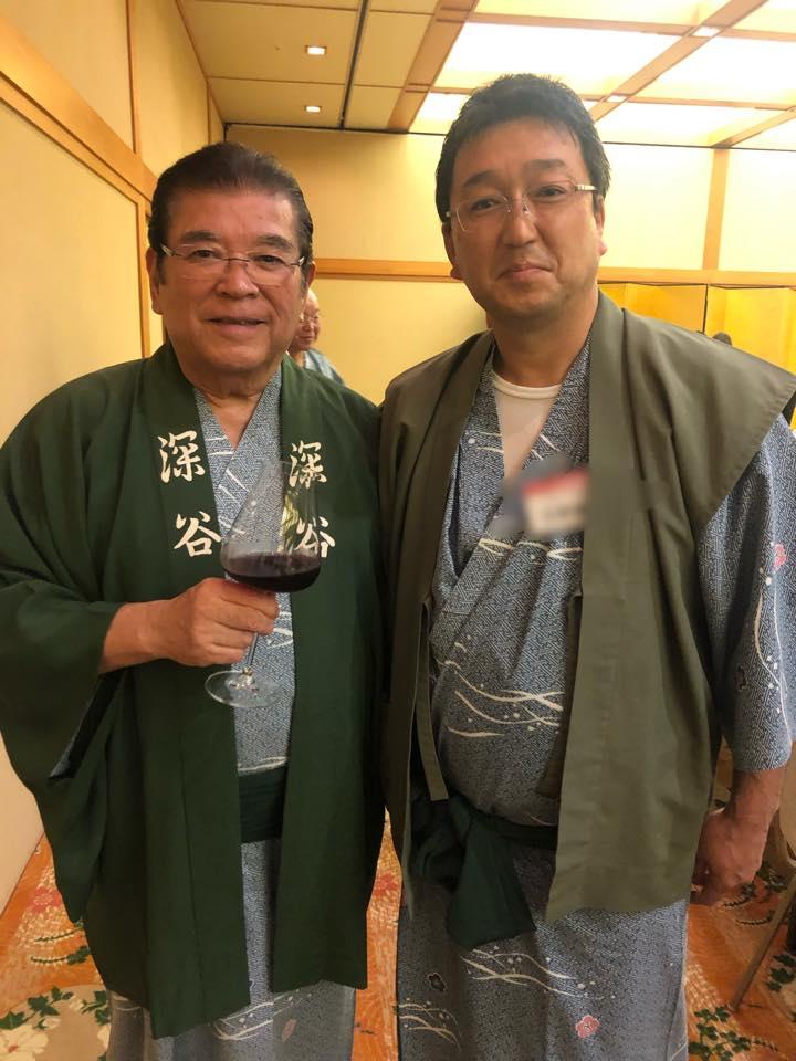 元通産大臣の深谷隆司 さんとのツーショット